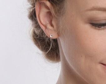 """Earrings """"Daisy"""" silver"""
