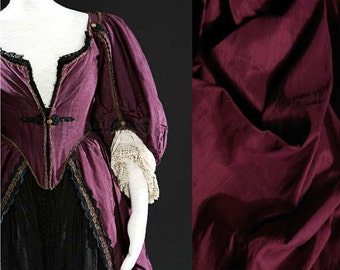 Custom Made Pirates of the Caribbean 18th Century Burgundy Gown