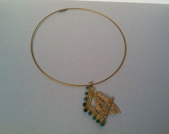 Gold choker  jewelry, gold necklace, lace choker, lace necklace, textile jewelry, choker necklace, romantic choher, gift from her