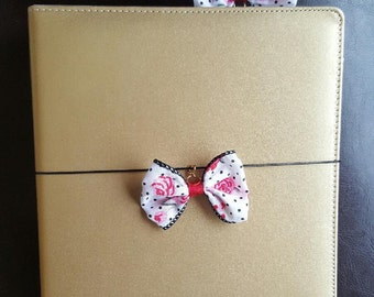 Floral Bow Planner Clip or Charm