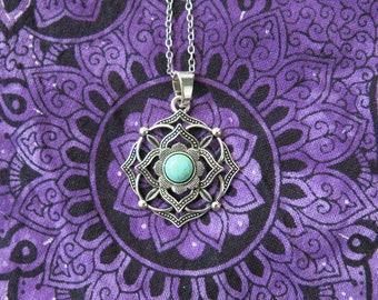 Chakra flower necklace talisman Sahasrara chakra