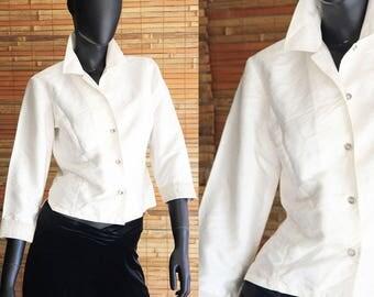 Reduced****Vintage Ann Taylor Silk 3/4 Sleeve Blouse Size 4