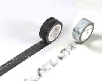 Marble Washi Tape, White Marble Washi Tape, Black Marble Washi Masking Tape, Marbling Effect Washi Tape, Minimalist Washi Tape, Granite