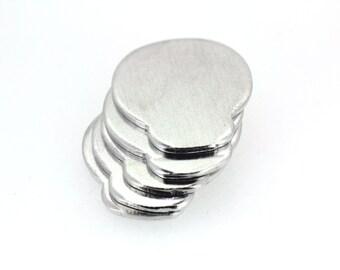 16G 1.2mm thick Aluminium blanks x10 - skulls - stamping supplies