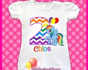 Rainbow Dash Birthday Tee Shirt / 1st, 2nd, 3rd, 4th, Birthday Shirt / Girls My Little Pony Birthday Shirts / My Little Pony Birthday Shirt