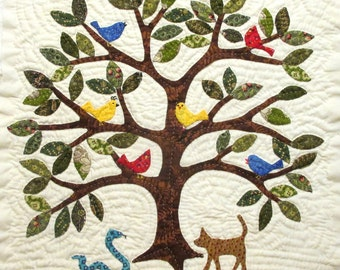 Tree Quilt Block Pattern for Nature's Bounty Quilt