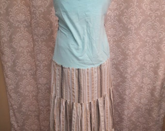 Cotton Hippie Dress, Striped Hippie Dress, Festival Clothing, Festival Dress, Eco Upcycled Dress
