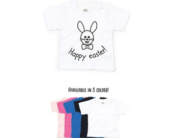 Baby easter shirt, happy easter, easter bunny shirt, cute bunny shirt, easter bunny, baby bunny, easter basket, baby easter gift, happy baby