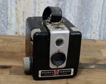 Vintage Brownie Hawkeye Flash Model Camera,Antique Camera- 1950s-620/210 Film Camera, Box Rollfilm