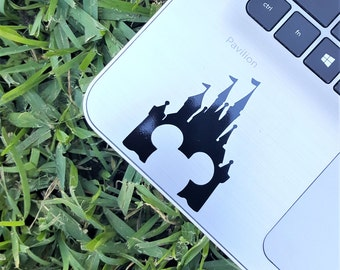 Decal {Disney castle with Mickey Mouse head}-Laptop Decal/Laptop Sticker/Phone decal/Phone sticker/Car Sticker/Car Decal