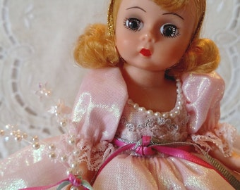 """Storyland """"Glinda the Good Witch"""" Wizard of Oz 8"""" Madame Alexander Doll #473, Restrung with Box & Wrist Tag"""