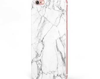 iPhone - Samsung Galaxy - TPU Soft Rubber Cell Phone Case - Light Marble - High quality Soft Silicon -Designed and Printed in USA
