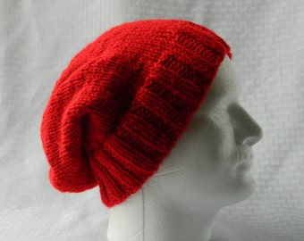 Solid Hand Knitted Slouchy Beanie