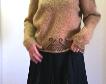 Swan Song Hand Knit Sweater