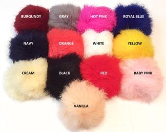 Real Genuine Rabbit Fur Pom Pom keychains, Handbag charm, accessory, fur ball keychain, rabbit fur keychain, fur ball pom pom, Bag pendant