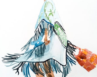 Fashion Illustration - Bohemian chic