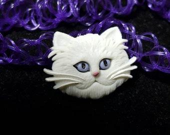 Kitty Cat Charm on Purple Tattoo Choker