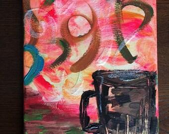 Café Anyone? - Original acrylic canvas
