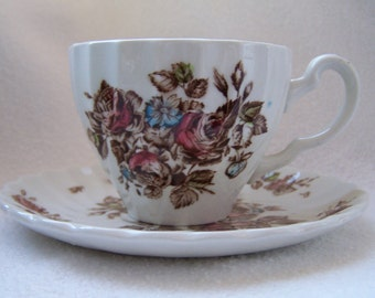 Johnson Brothers Devon Sprays Demitasse in Brown and Multi-color Tones