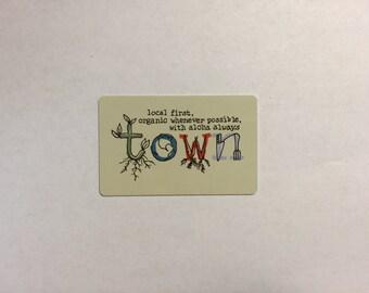Town Restaurant Gift Certificate