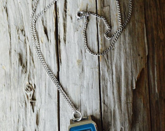 One of a Kind Repurposed Vintage silver watch and chain necklace. Nerd. Nerd Power. Lady Nerd. Watch. Repurposed Jewelry. Gift for her