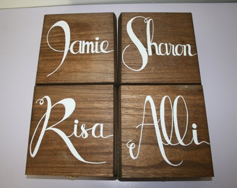 Will You Be My Bridesmaid Box Original Hand Lettered Hand Painted Bridal Party Gift (Box Only)