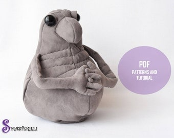 "Homunculus loxodontus ""Zhdun""- PDF sewing patterns and tutorial"