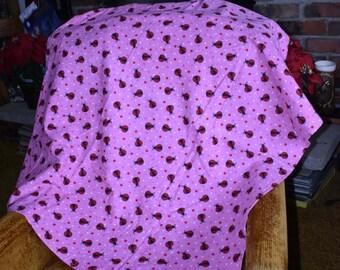Lady Bug Pattern Baby Blanket