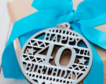 40th Birthday Gift Tag