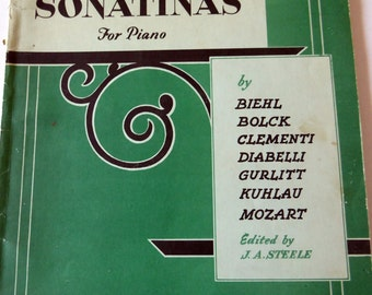 Allans New Collection of Sonatinas for Piano Music Book, 1950s Sheet Music