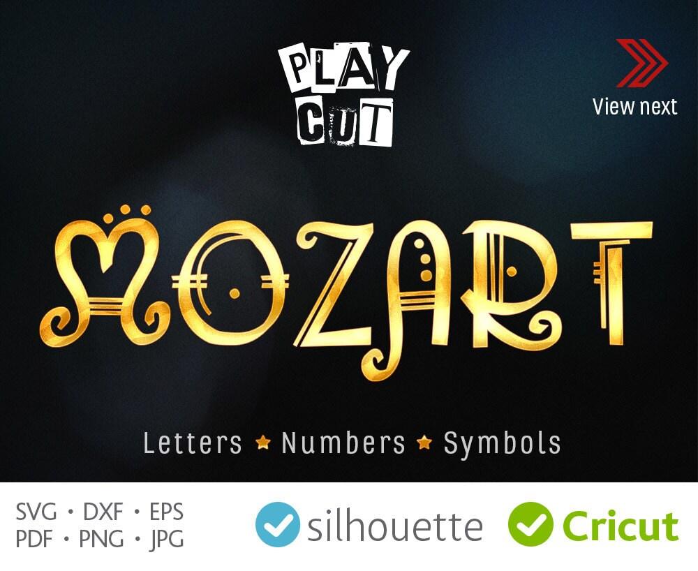 Decorative Font Svg Mozart Alphabet Svg Cricut Font Downloads
