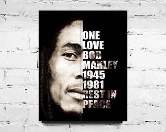 Bob Marley Art Digital Print | Downloadable Collectibles | Art Gift Idea | Memorial Dedication | Bob Marley Art