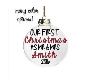 personalized christmas ornament wedding ornament our first