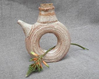 Oil bottle - wheel thrown stoneware