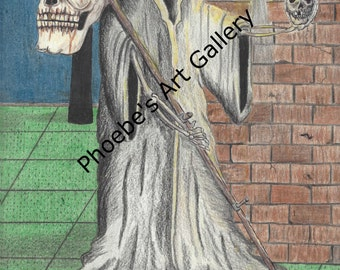 Grim Reaper Printable Art
