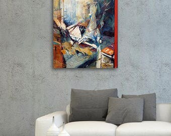 Oil Painting Abstract, Large Abstract Original Art, Original Painting On Canvas, Blue Abstract Painting, Modern Oil Painting, Painting Blue