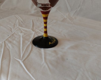 Hermione Granger Hand Painted Wine Glass
