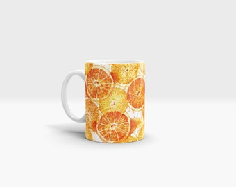 Oranges Mug. 11oz Ceramic Mug.