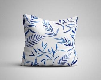 Blue Leaves Cushion.