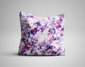 Purple Leaves Cushion.