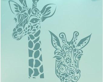 Giraffe Mandala / Giraffe SVG / Mandala SVG / Giraffe Zentangle / Giraffe Wall Art / Giraffe shirt, Giraffe Decal / Giraffe DXF, Giraffe Png