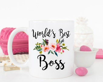 World's Best Boss, Worlds best boss, gift for boss, boss gift, best boss ever, coworker gift, gift for her, Boss Appreciation, Birthday Mug