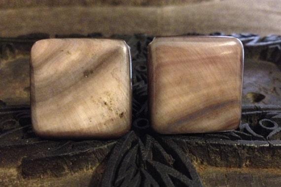 Unique Black Lip Shell Cufflinks
