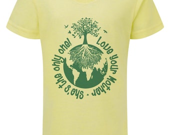 Love Your Mother Womens V-Neck Tshirt By Nik Smith