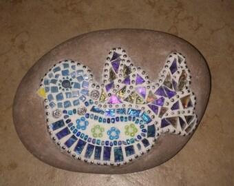 Whimsical Bird Garden Mosaic