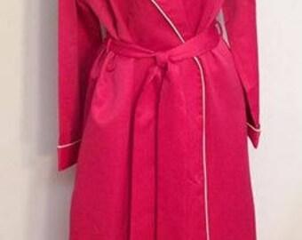 Flo Weinberg Original wrap robe pink fuscia vintage lingerie VOLUP designer high end theater costume glamourous