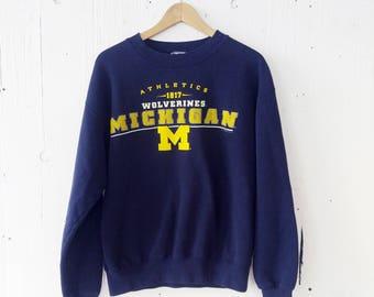 University of Michigan Athletics Sweatshirt Vintage
