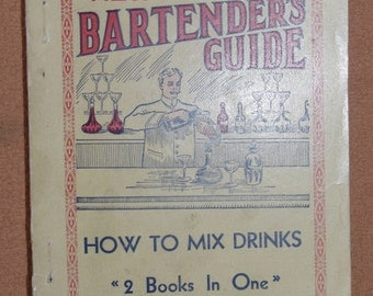 ORIGINAL BARTENDER GUIDE  - extremely rare - Art Nouveau - 10s - Art Deco - Barware - Mixologist - décoratif - Cocktail - vintage
