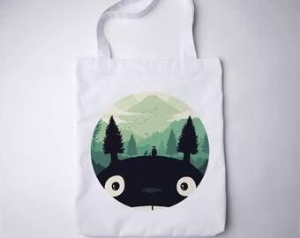 Eco tote bag Women handbag Shoulder bag Totoro bag gift ideas Canvas tote bag Miyazaki bag cosmetic bag Pouch Beach bag bridesmaid gift 025