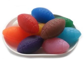 25 Party Favor Soap, Football Soap, Sports Soap, Little Soap, Small Soap, Kids Soap, Mini Glycerin Soap, Decorative Soaps 25 pack (25 oz)